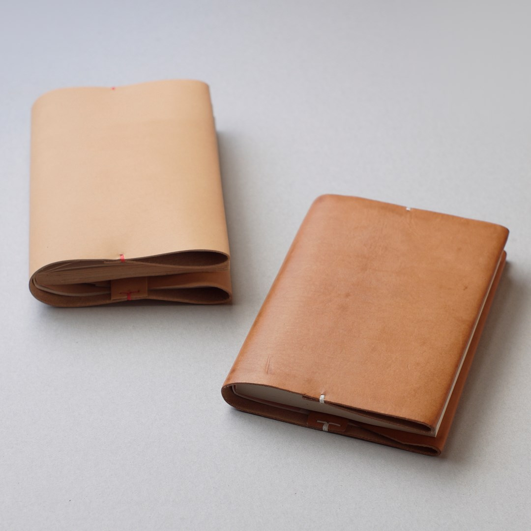 kumosha hand stitched leather book cover bunko