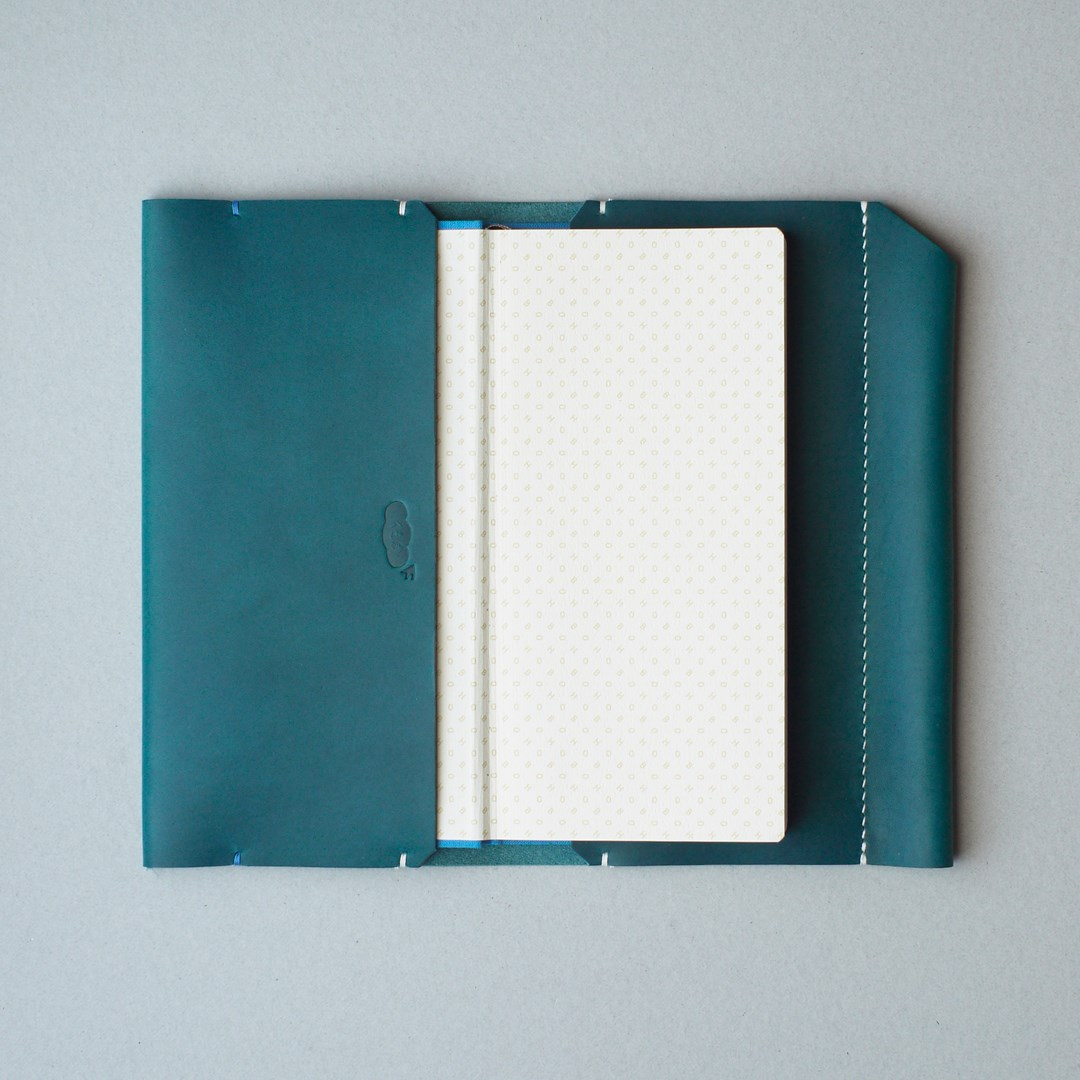 kumosha hand stitched leather note book cover hobonichi weeks