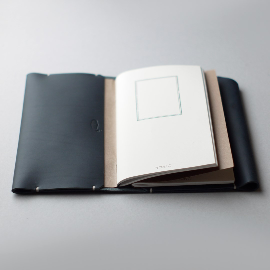 kumosha hand stitched leather note book cover travelers note