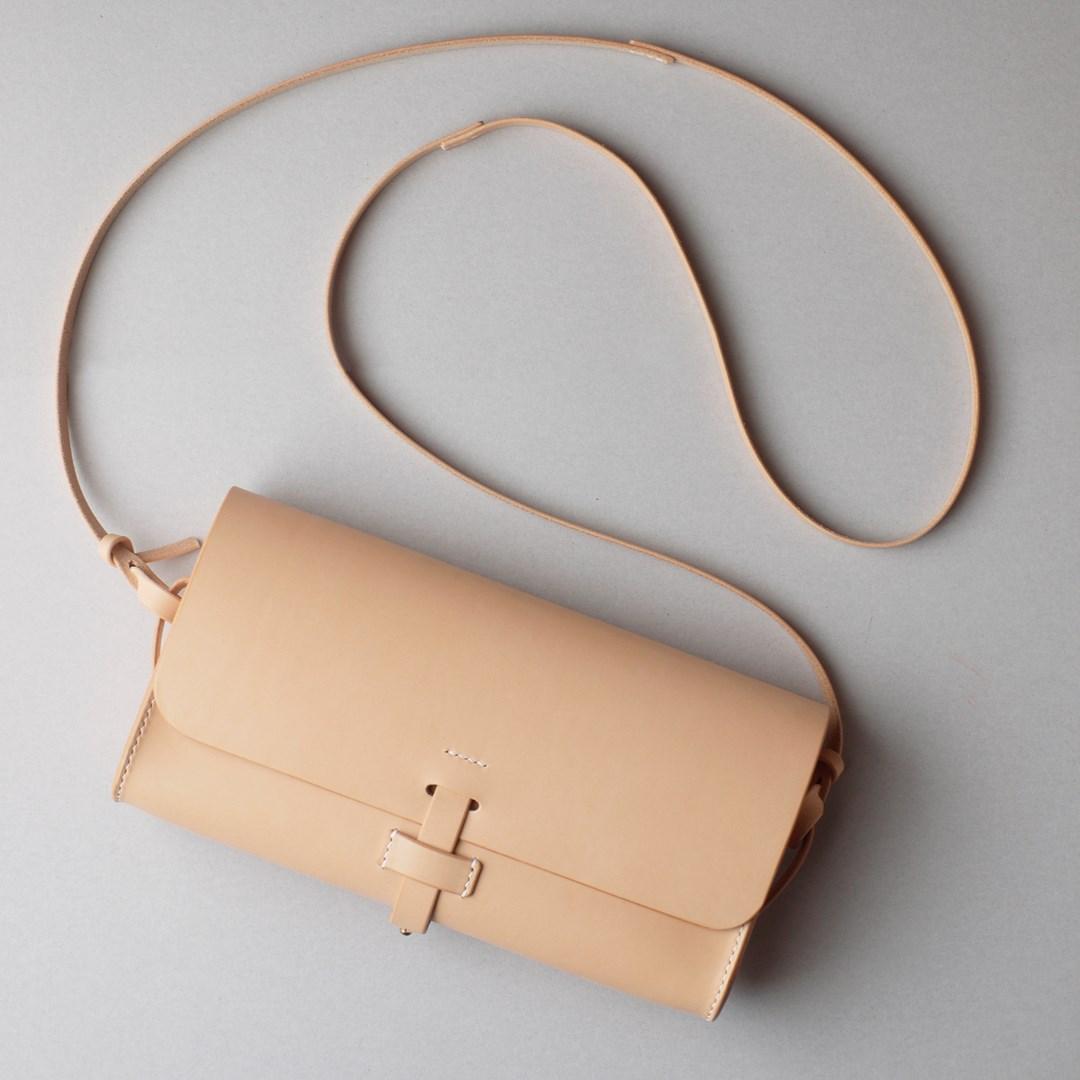 kumosha hand stitched leather shoulder bag mimi-tsuki
