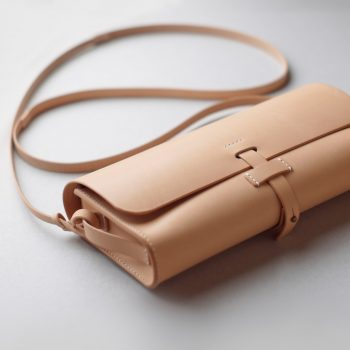 kumosha hand stitched leather shoulder bag mimi-tsuki