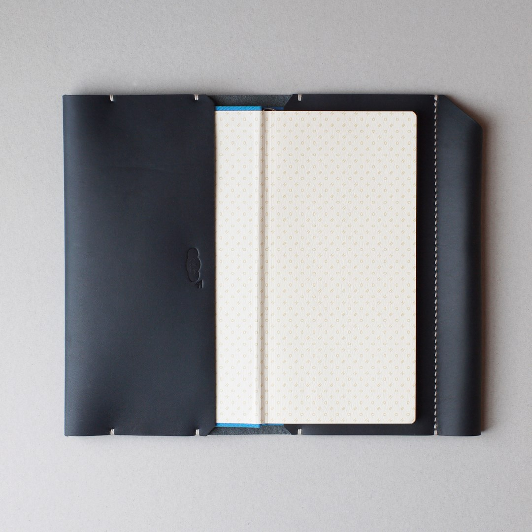 kumosha hand stitched leather note cover Hobonichi weeks