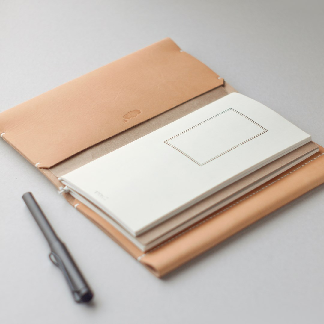 kumosha hand stitched leather note cover traveler note