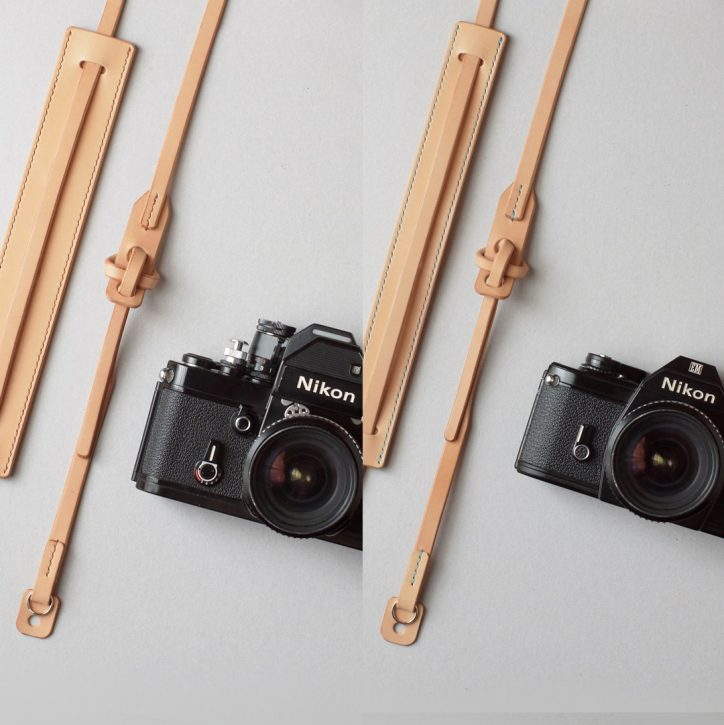 kumosha hand stitched leather camera strap type2