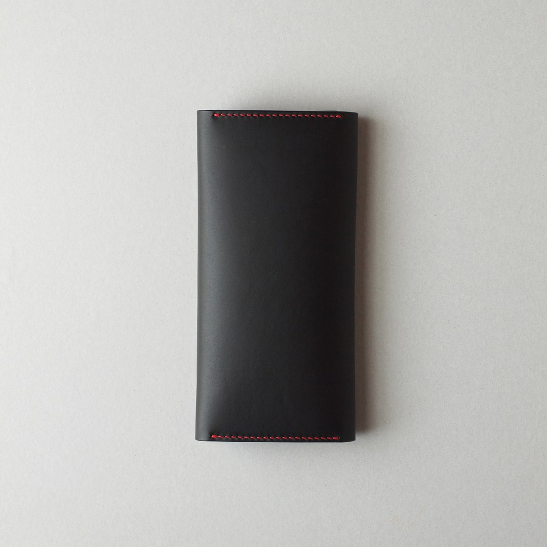 kumosha hand stitched leather long wallet type2