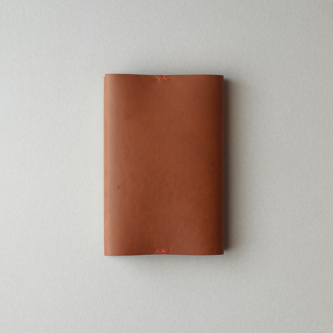 kumosha hand stitched leather bookcover bunko