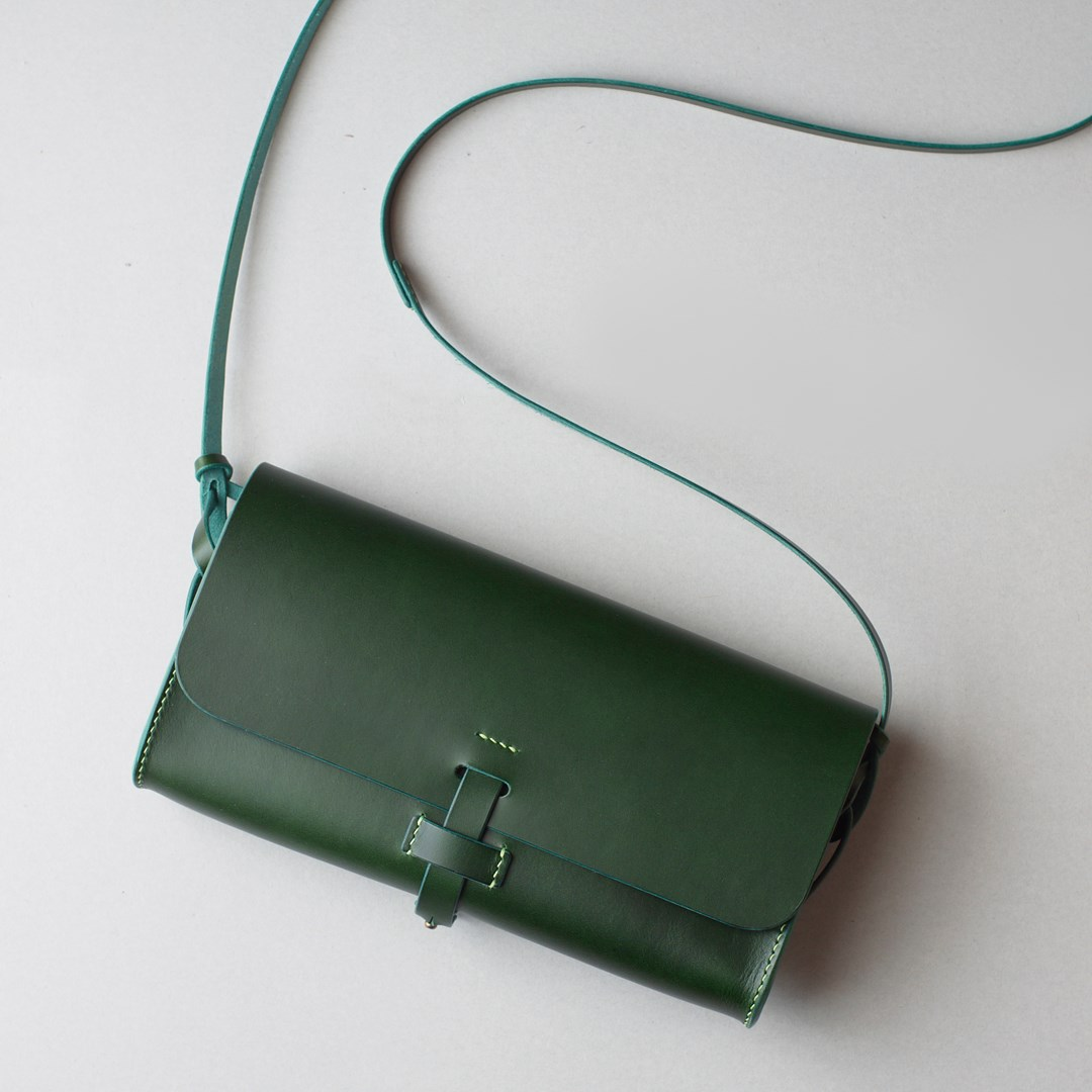 "kumosha hand stitched leather shoulder bag ""mimi"""