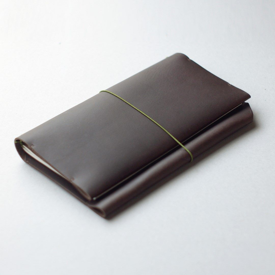 kumosha hand stitched leather note cover traveler note