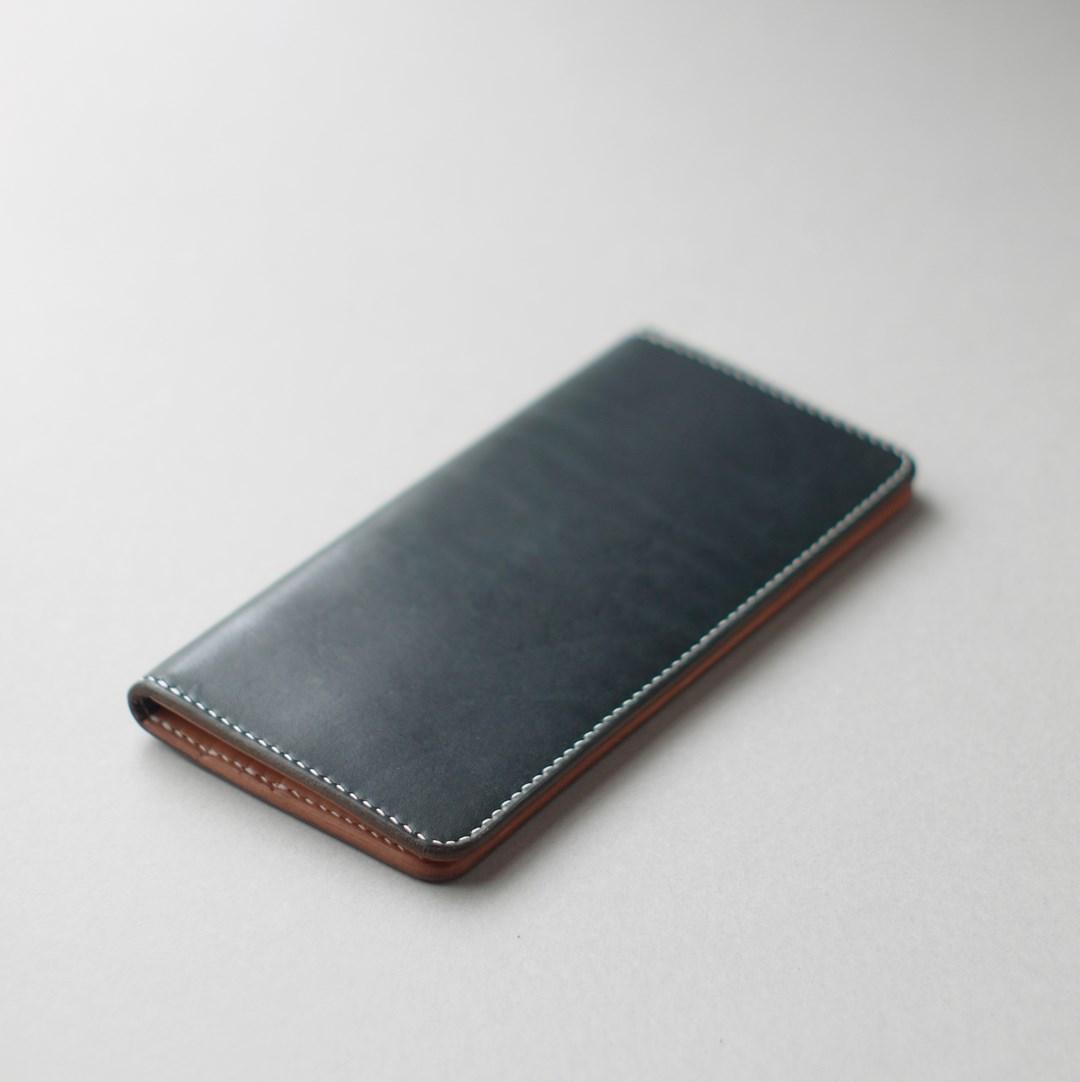 kumosha's hand stitched leather long wallet type1