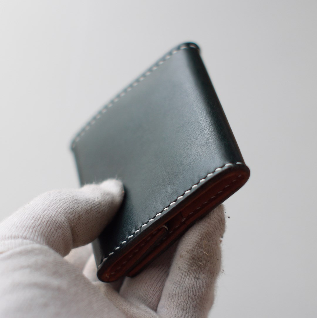 kumosha's hand stitched leather coin case type2