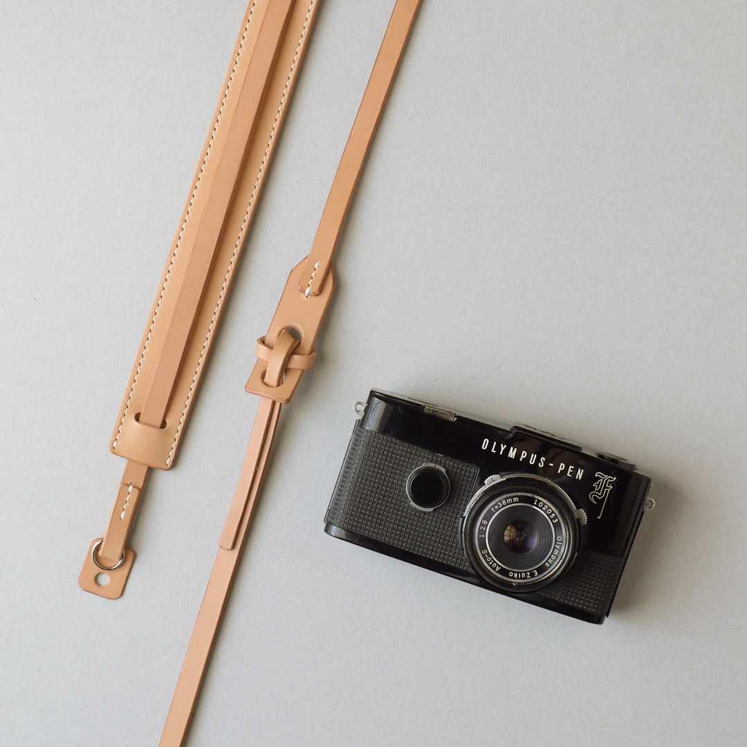 kumosha hand stitched leather camera strap 2