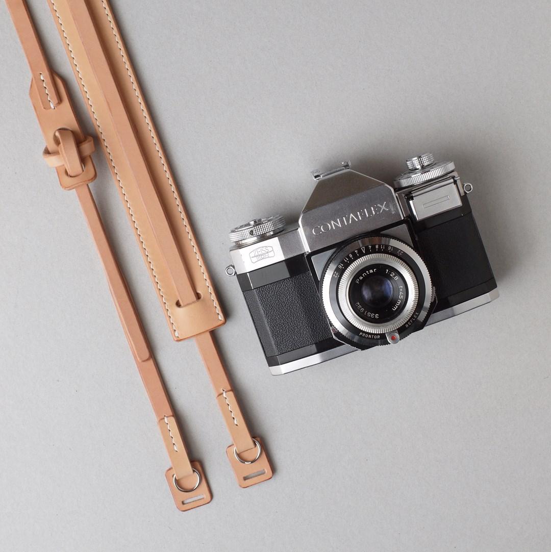 生成りのカメラストラップ2型が完成しました