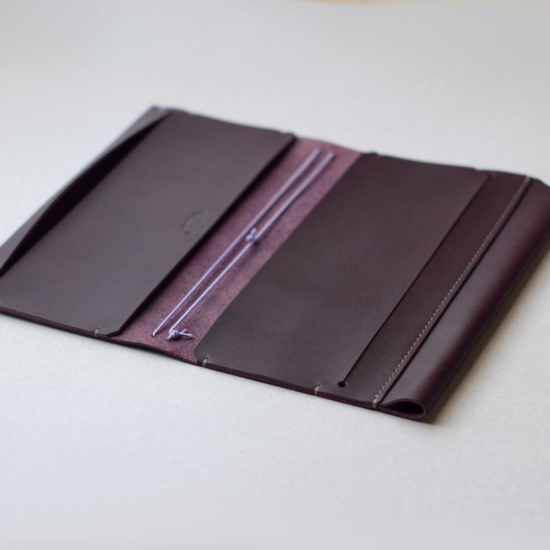 kumosha's hand stitched leather travelers notebook cover