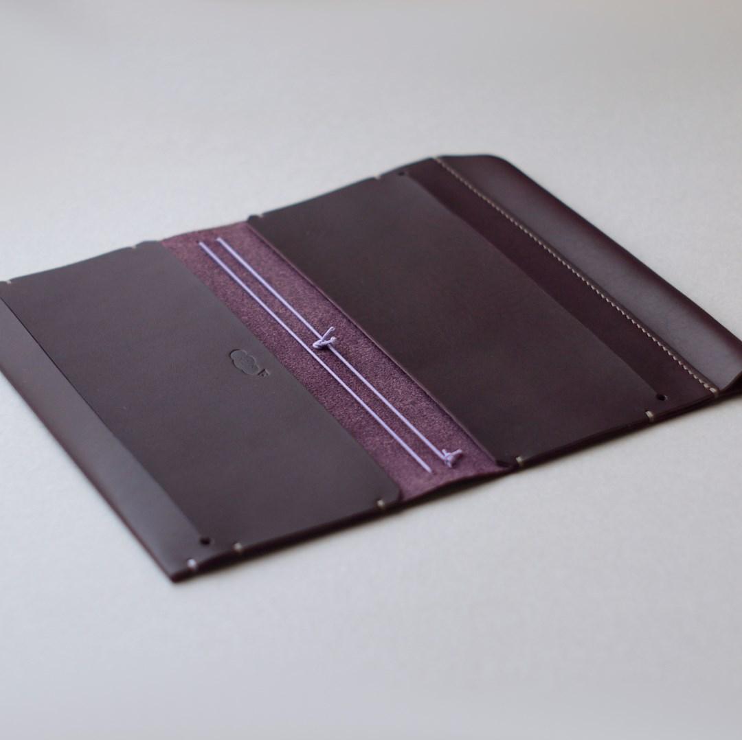 kumosha's hand stitched leather travelers notebook cover