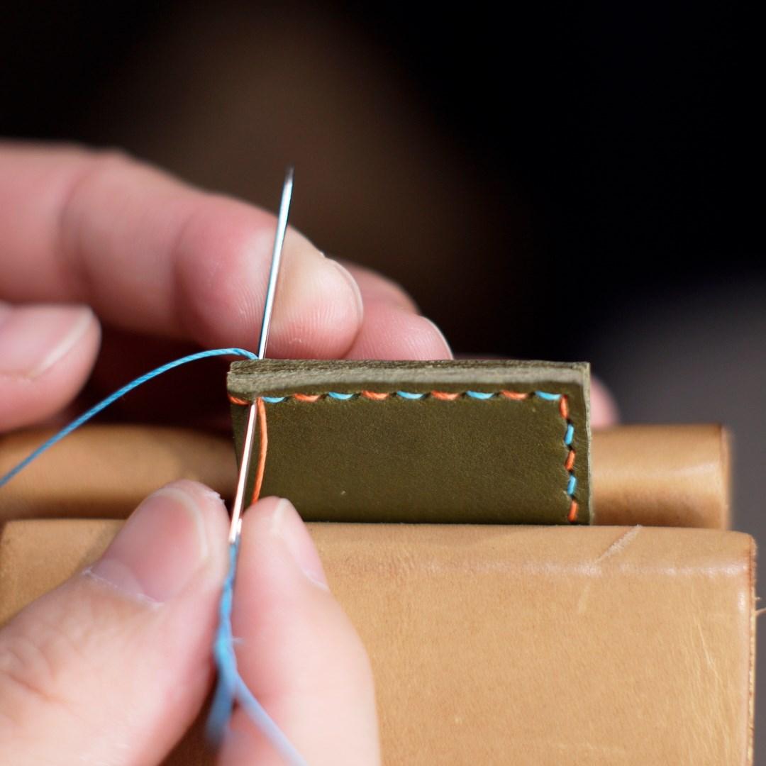 はじめての革手縫い:糸始末(縫い終わり)編