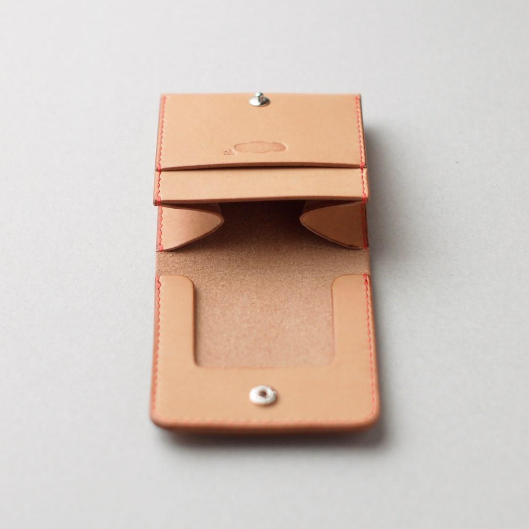 生成り革のコインケース2型が完成しました