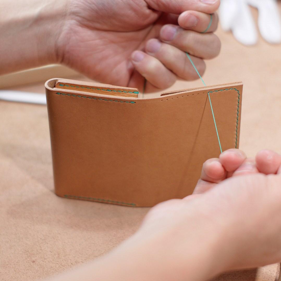 生成りのカードケース3型をつくる