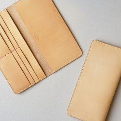 生成りの手縫い長財布1型をつくる