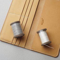 生成りの手縫い長財布1型が完成しました