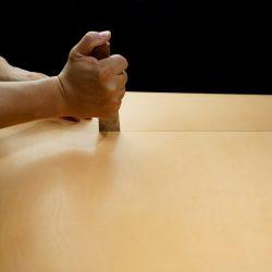 生成りの手縫いトートバッグ2型をつくる(裁断と持手の手縫い)