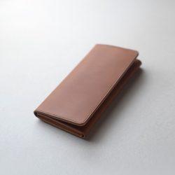 コニャックと生成りの長財布2型が完成しました
