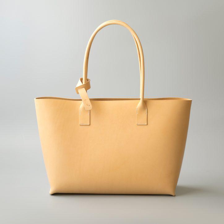 kumosha hand stitched leather tote bag type02