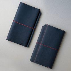 紺色のトラベラーズノートカバー1型をつくる