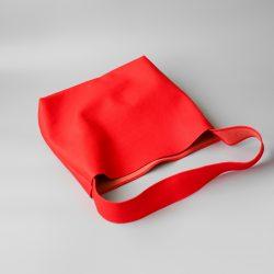 赤いショルダーバッグ業務型SL特注品が完成しました