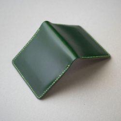 緑の二つ折りマネークリップをつくる