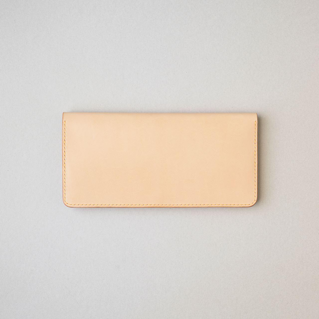 生成りの長財布1型プラスが完成しました
