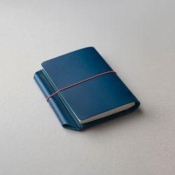 青いほぼ日手帳カバー1型オリジナルサイズの特注品をつくる