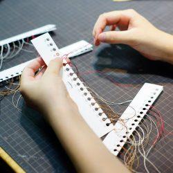 六花リネン糸のフルサンプル制作と青ひげ改