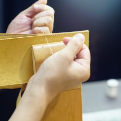 二つ折財布の試作と青ひげ改の制作