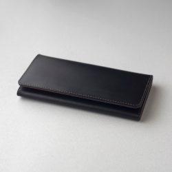 黒×チョコの長財布2型をつくる