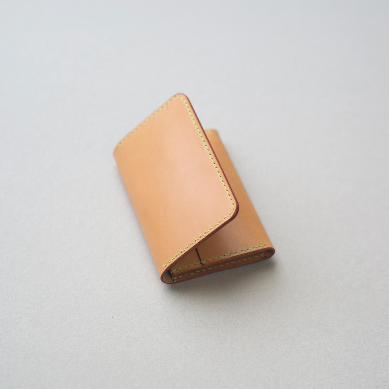 生成りヴィンテージのカードケース3型をつくる