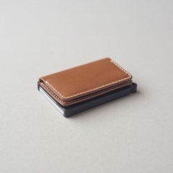 キャメルのミニマリスト財布1型をつくる