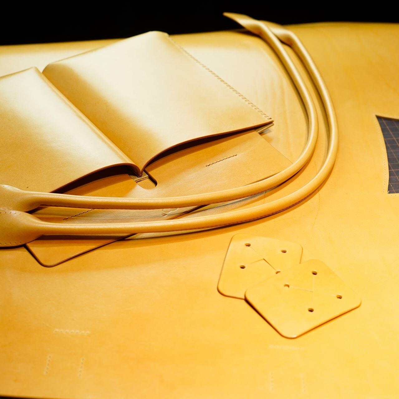 生成りビンテージのトートバッグ2型をつくる その2