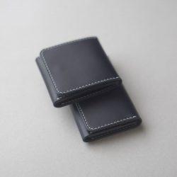 紺色のコインケースとカードケースをつくる