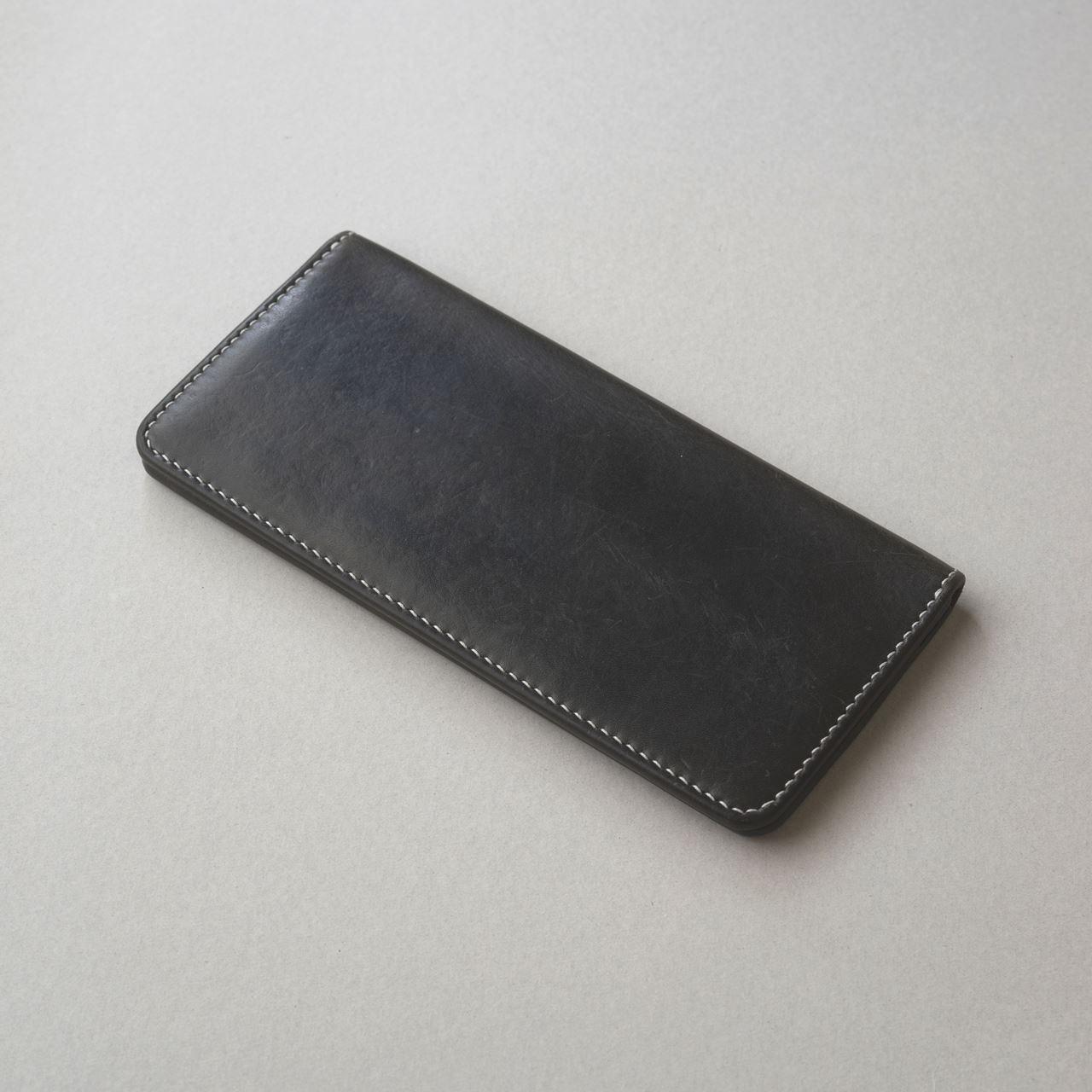 紺の長財布1型を縫いなおししました