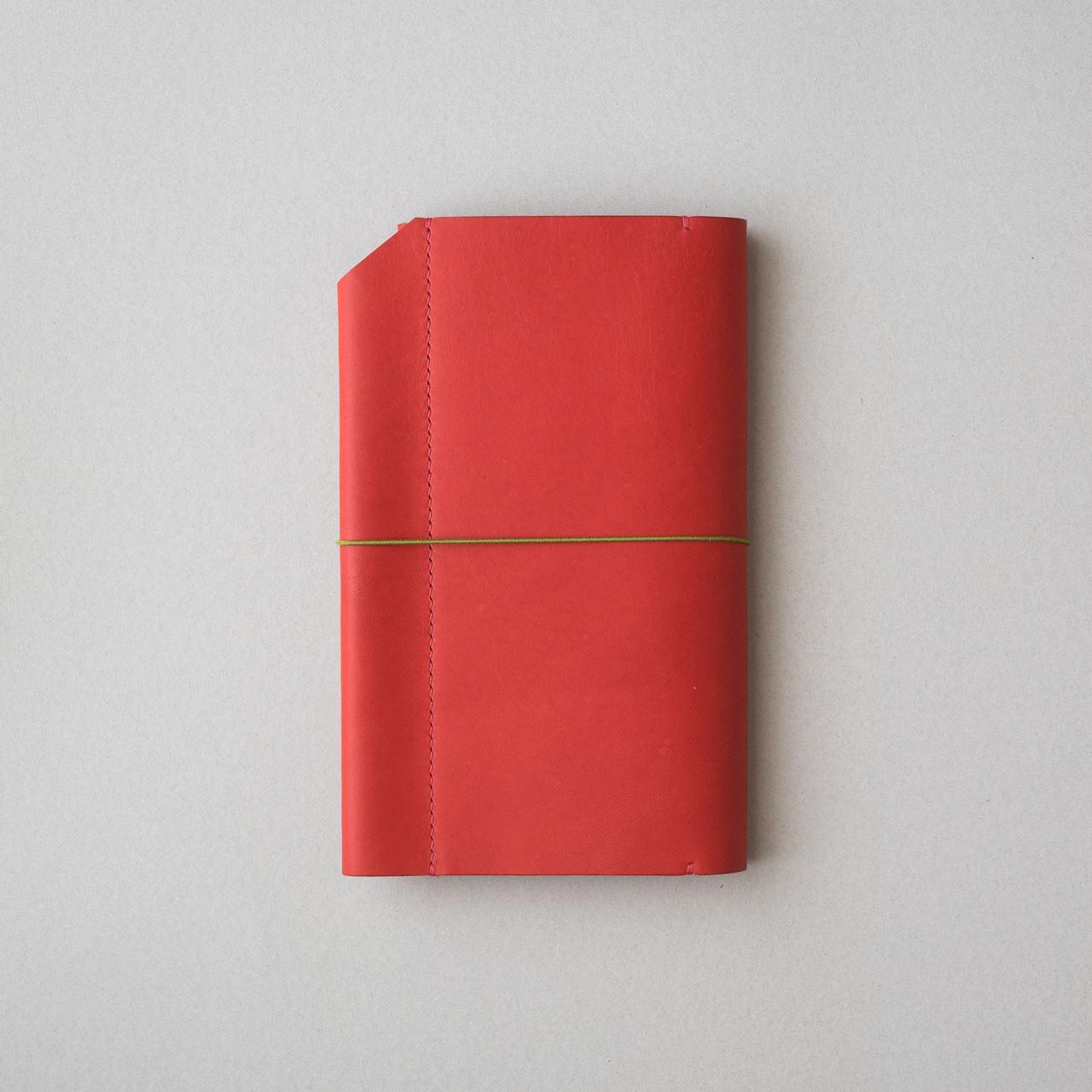 赤いほぼ日手帳カバー1型WEEKSサイズをつくる