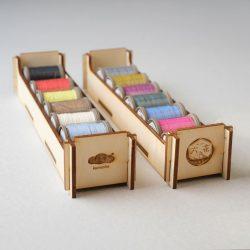 六花リネン糸専用木箱をつくる