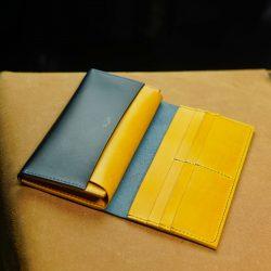紺と黄の長財布2型をつくる その2