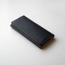 紺と黄の長財布2型が完成しました
